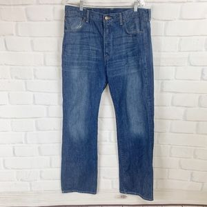 Levi's 501 Button Fly Medium Wash Jeans I 36